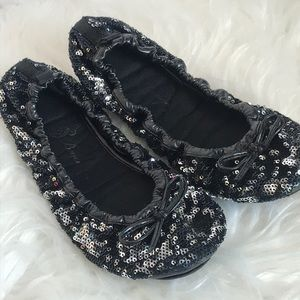 Boyce sequined foldable ballet flats 8